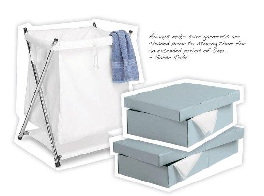 laundry basket, acid free garment storage box