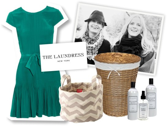 dress, fabric laundry basket, wicker laundry basket, essentials from The Laundress