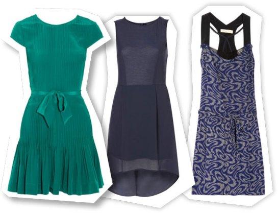 green dress, LBD, print dress