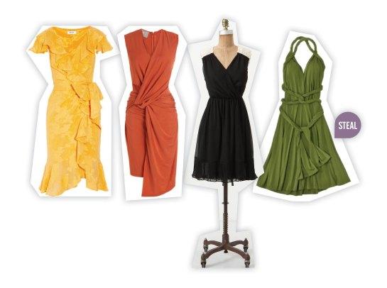 hour glass shape - wrap dresses to wear to a wedding
