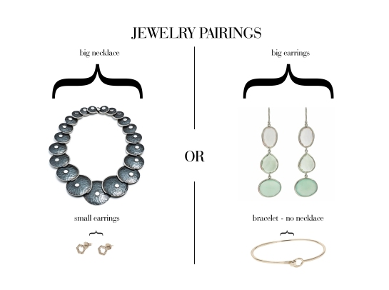how to wear a statement necklace or earrings