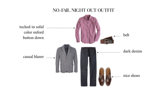 Date or Night Out Outfit - Men