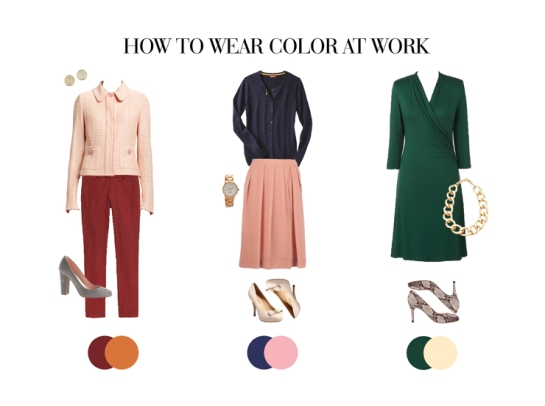 what colors to wear to work