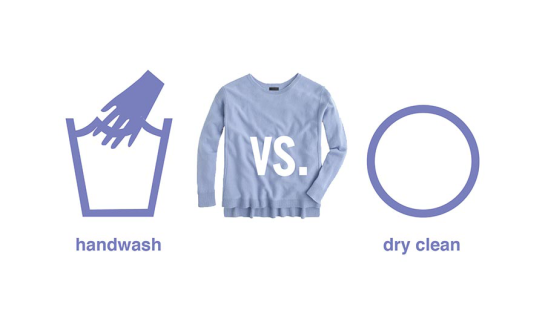 handwashing versus dry cleaning your sweaters