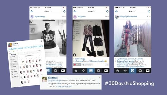 #30DaysNoShopping challenge