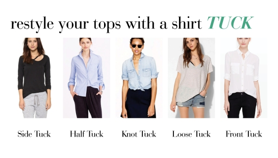 styling tips for how to tuck your shirt