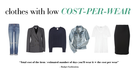 items with low cost per wear