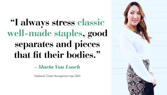 Maria Von Losch - good shopping advice