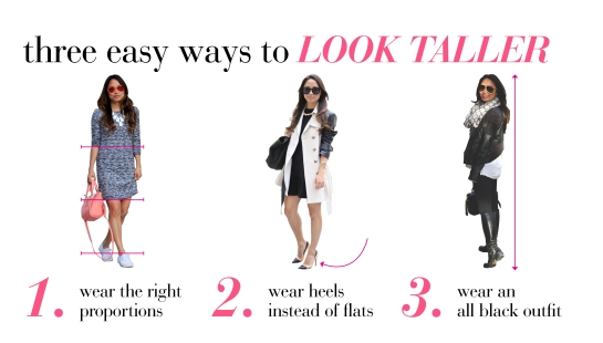3 outfit ideas for appearing taller