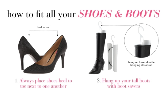 Space Saving Tricks For Storing Shoes