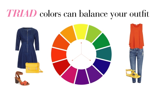 Using The Color Wheel To Create A Triad Denim Dress